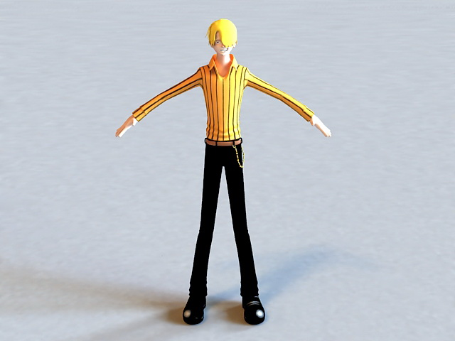 Cool Anime Guy 3d model