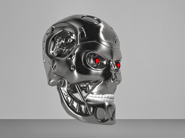 Terminator T 800 Head Skull 3d Model 3ds Max Object Files