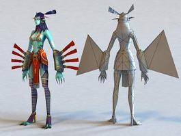 Female Elf Assassin 3d model