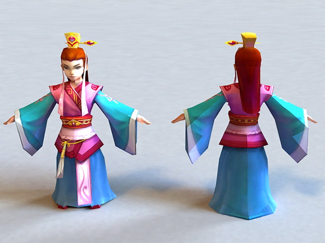 Ancient Chinese Prince Boy 3d model