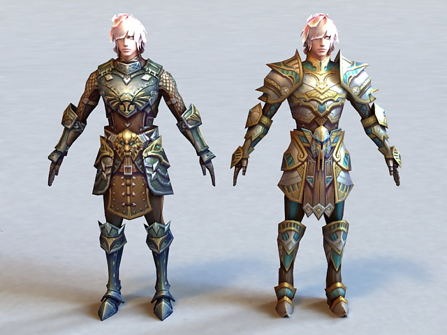 Warrior Armor Sets 3d model