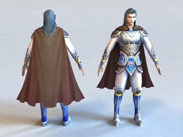 Ancient Chinese Martial Arts Man 3d model