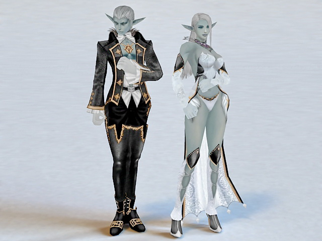 Elven Couple 3d Model 3ds Max Files Free Download