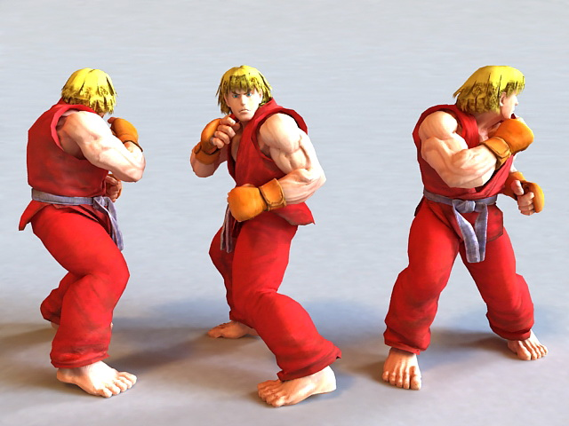 Guy Final Fight Street Fighter 3d Model 3ds Max Files Free
