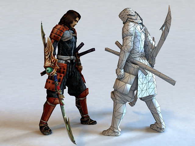 ninja samurai warrior 3d model 3ds max files free download