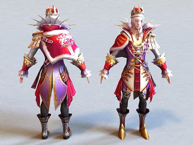 Fantasy Prince 3d model