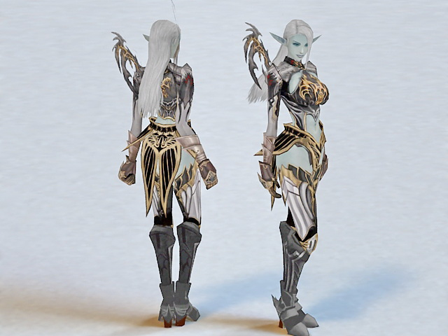 Dark Elf Female Warrior 3d model