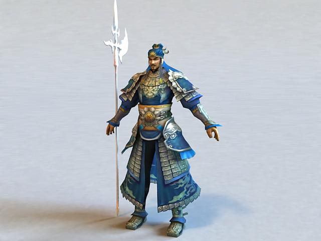 Dynasty Warrior Rigged 3d model