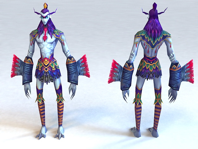 Troll Warrior 3d model