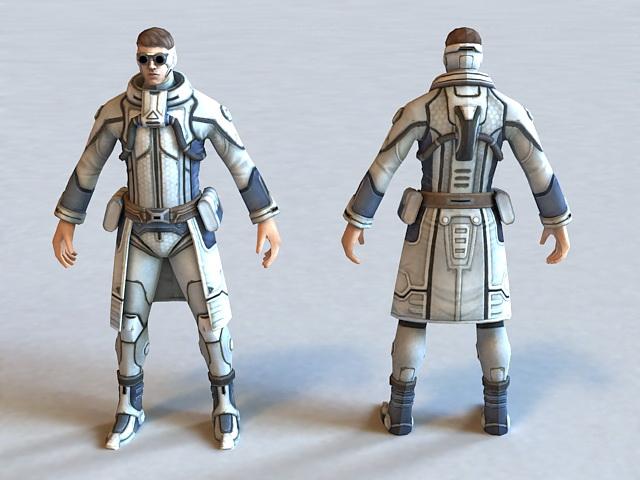 Futuristic Security Agent 3d model