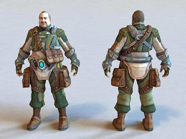 Army Fat Soldier 3d model
