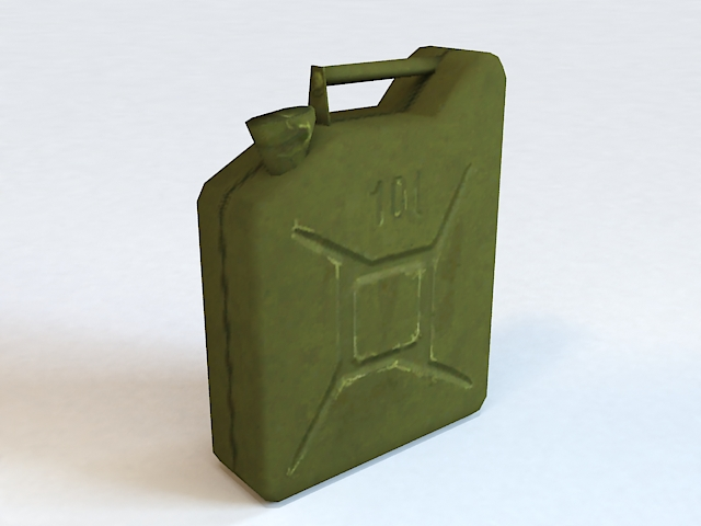 Military Fuel Canister 3d model