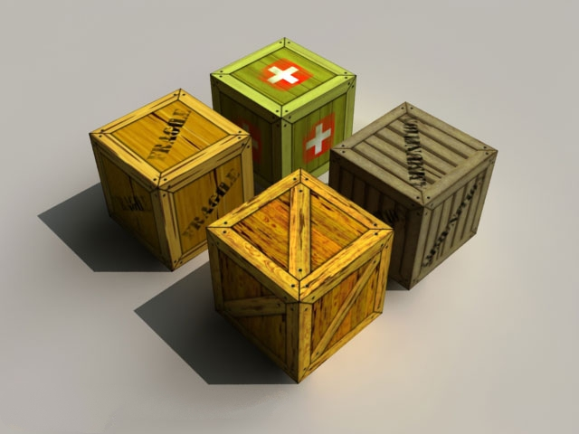 Military Crate Boxes 3d model