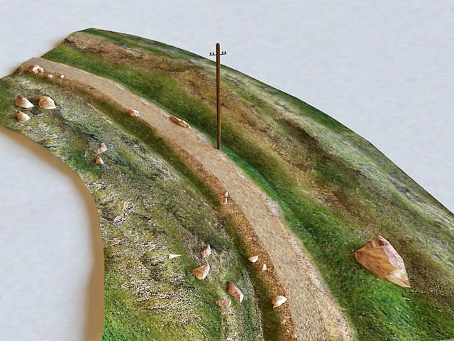 Rough Road 3d model
