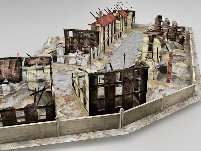 Warzone Ruins 3d Model 3ds Max Files Free Download
