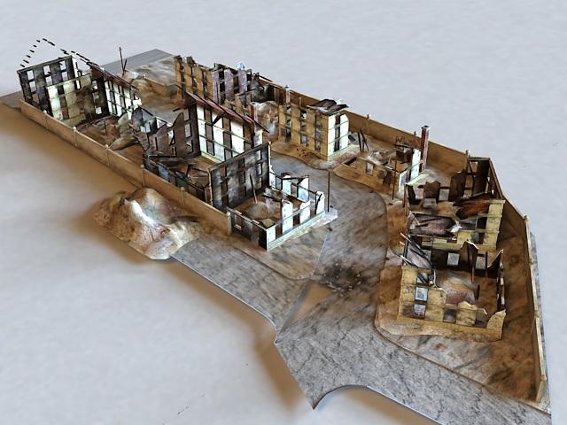 Warzone Ruins 3d model