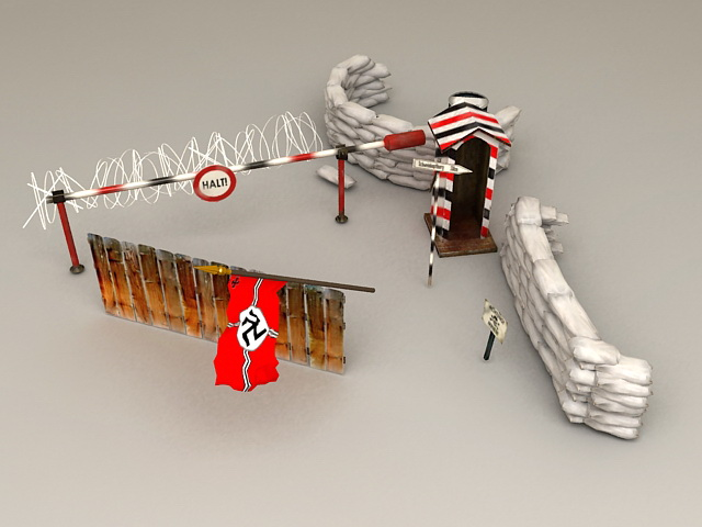 Military WW2 Fortifications 3d model