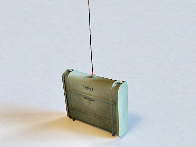 WWII Military Walkie Talkie Radio 3d model