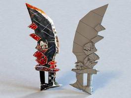 Bloody Hacking Knife 3d model