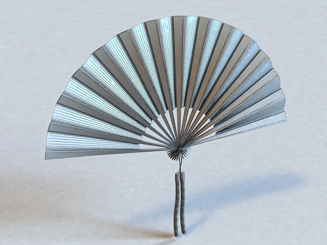 Japanese Hand Fan 3d Model 3ds Max Files Free Download