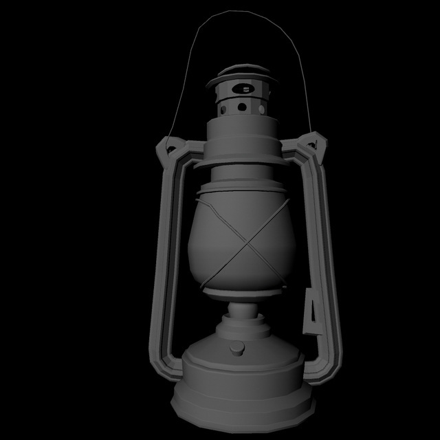Old Oil Lamp 3d Model Maya Files Free Download Modeling