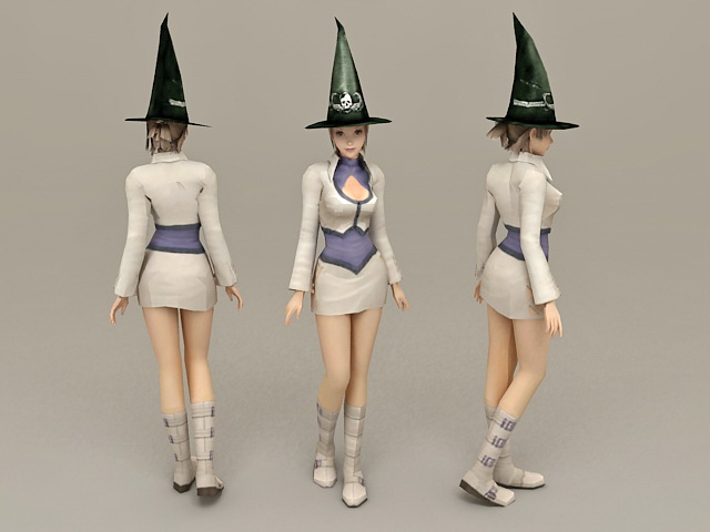 Magician Girl 3d model