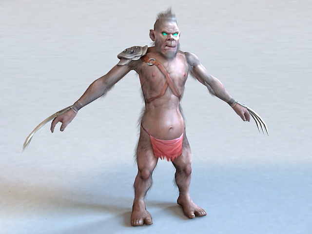 Monster with Claws 3d model