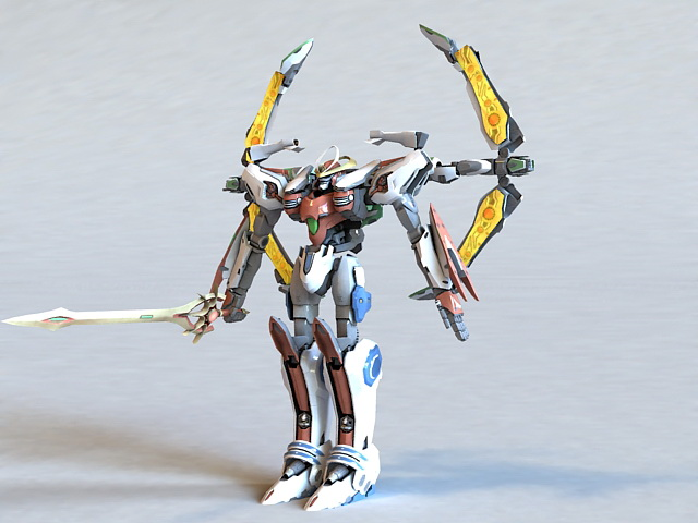 Super Robot Chogokin Solar Aquarion 3d model