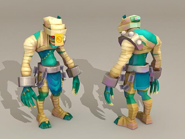 Humanoid Monster Creature 3d model
