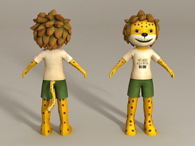 Humanoid Lion Boy 3d model