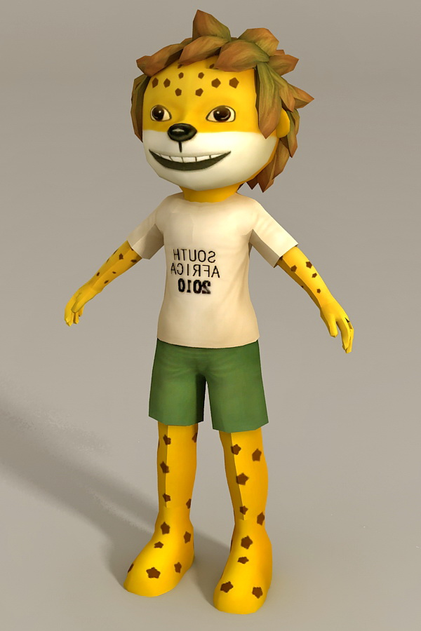 Humanoid Lion Boy 3d Model 3ds Max Files Free Download