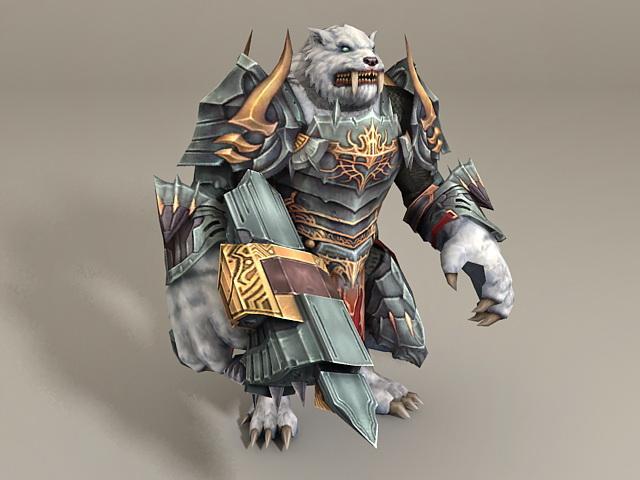 Wolf Monster Warrior 3d model