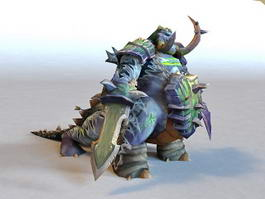 Warcraft Pit Lord Animated & Rigged 3d model