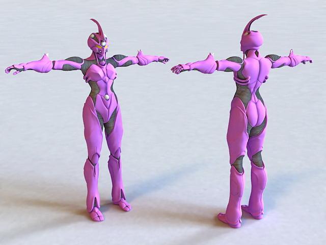 Guyver Anime Robot 3d model