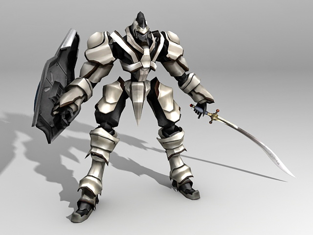 Futuristic Robot Warrior 3d Model 3ds Max Files Free
