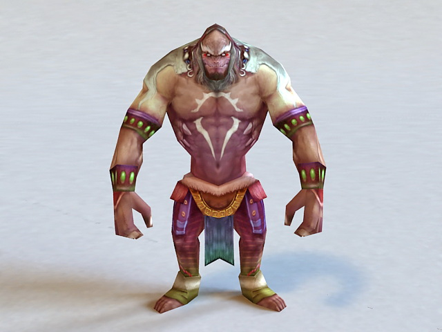 Barbarian Warrior Male 3d model