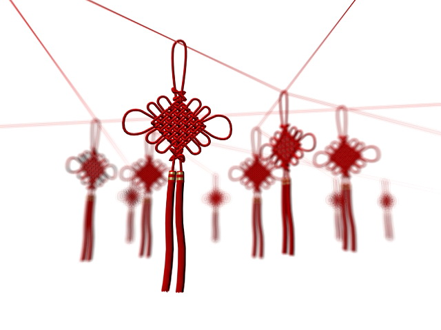 Chinese Lucky Knots 3d model