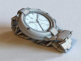 Old Wrist Watch 3d model