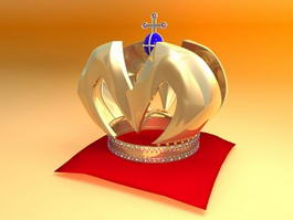 Gold King Crown 3d model