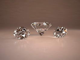 Beautiful Sparkling Diamonds 3d model