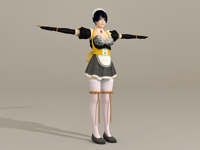 Anime Maid Girl 3d model