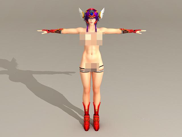 Naked Anime Girl 3d model