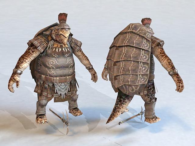 Turtle Warrior 3d model