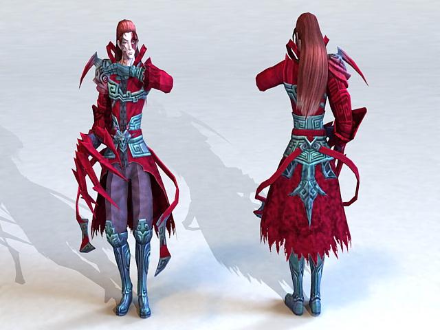 Anime Demon Guy 3d model
