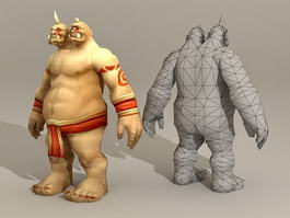 Two Headed Ogre 3d model
