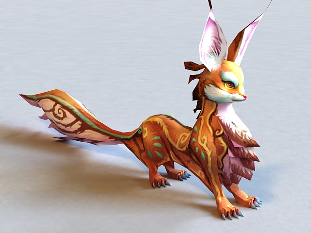 Mythical Fox Creature 3d model
