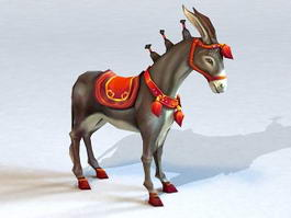 Mexican Donkey 3d model