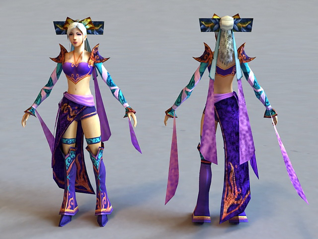 Ancient Chinese Beauty 3d model