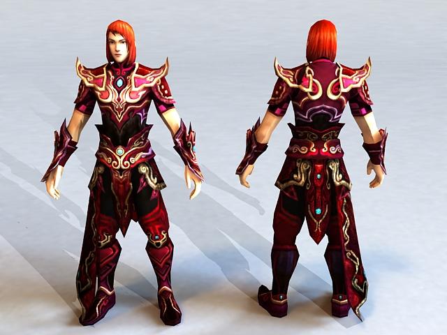 Ancient Asian Warrior 3d model