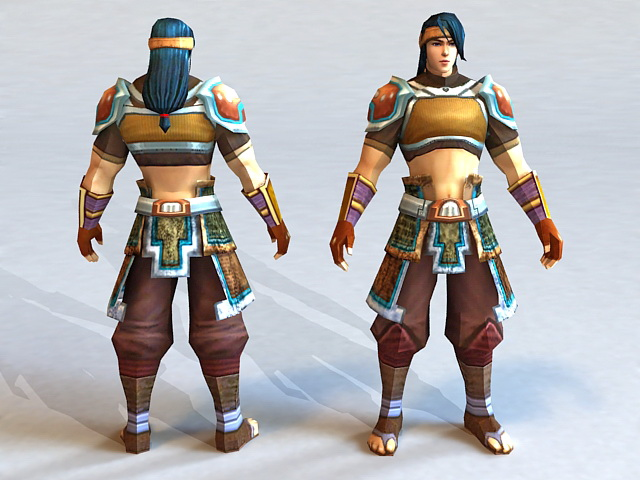 Human Warrior 3d model 3ds Max files free download ...